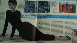 Audrey Hepburn, Ausriss aus Weltbild Nr.12, 1997